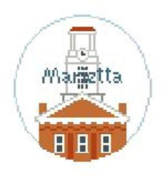 """BT679 Marietta College, Ohio 4"""" Diameter Kathy Schenkel Designs"""