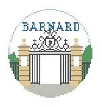 """BT677 Barnard College, NY 4"""" Diameter  Kathy Schenkel Designs"""