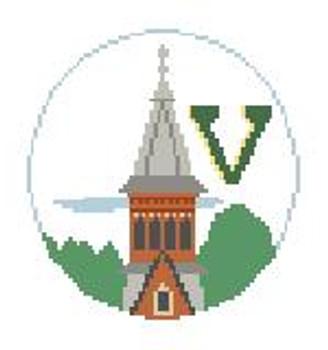 """BT672 U Of Vermont 4"""" Diameter Kathy Schenkel Designs"""