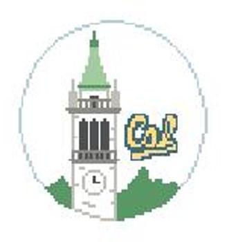 """BT646 Cal Berkeley Campanile 4"""" Diameter Kathy Schenkel Designs"""