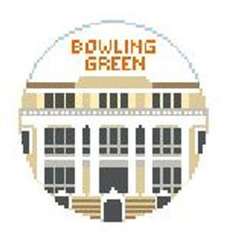 """BT643 Bowling Green U University Hall 4"""" Diameter Kathy Schenkel Designs"""