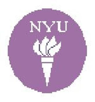 """BT337 NYU Round  4"""" diameter Kathy Schenkel Designs"""