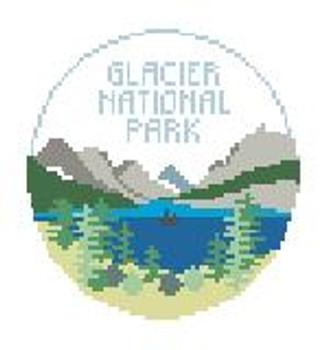 """BT671 Glacier National Park 4"""" Diameter Kathy Schenkel Designs"""