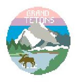 """BT632 Grand Tetons  4"""" diameter Kathy Schenkel Designs"""