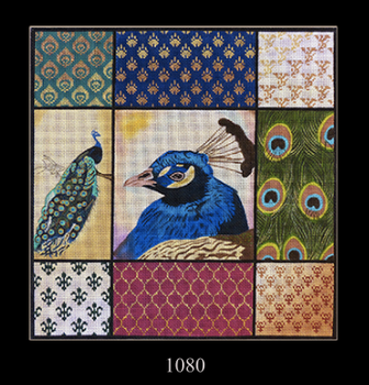 Vintage inspired peacock birds french windows cards tags set 8 w//envelopes