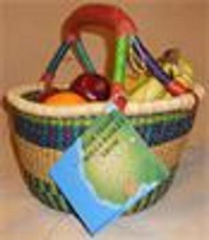 "Bucket/Waste Basket 1""Hx 12"" diameter. One goat hide handle. Sold individually. Grade B.  Honeycomb Basket"