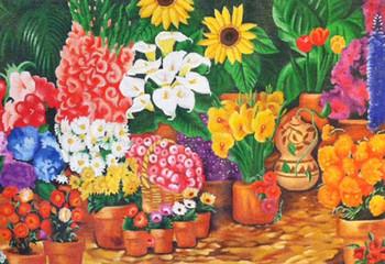 YL-013 Yolanda Sundance Designs Flower Market 18 Mesh 13 x 10