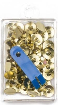 Brass Tacks by Clover – Gold brass tacks with tack removal tool