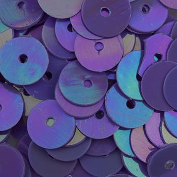#Sq-149 Violet 6mm Sequin Sundance Beads