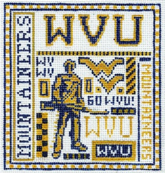 T-40wv West Virginia University 4 1/2 x 5 18 Mesh The Meredith Collection