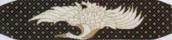 W-43 Oriental Crane 18 Mesh CUMMERBUNDThe Meredith Collection