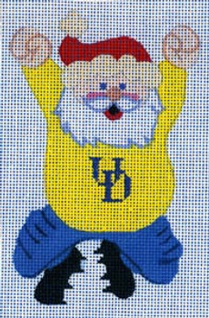 XO-110ud Cheering Santa- Univ of Delaware 18 Mesh The Meredith Collection