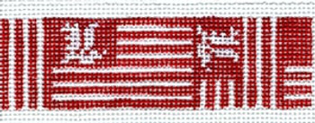 KL-17e U of L Flag - University of Louisville Canvas and Leather 18 Mesh KEY CHAIN - LONG The Meredith Collection
