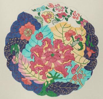 Fleuresse Satin Bettwäsche 135x200 pink lila Muster Streifen Vintage 112403-4