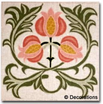 D-506Arts & Crafts Pomegranates18x18  13 Mesh DECORATIONS