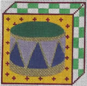 204c Drum ornament 3.5x3.5 18 Mesh Map Designs