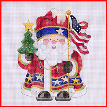 Needlepoint Canvas Categories Holidays Christmas Santas Mrs