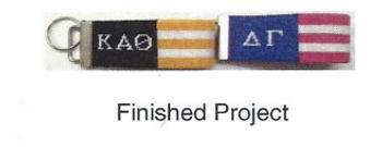 "Alpha Gamma Delta KF3-AGD ""flag"" key fob Kangaroo Paw Designs"