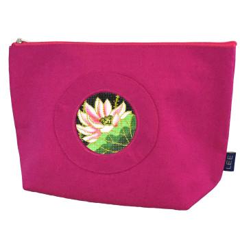 BAG70P Small Silk Bag, Bright Pink Lees NeedleArts