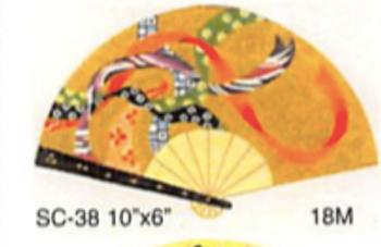 """SC-38 10""""x6""""  Ribbons Fan Sophia Designs"""