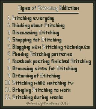 Stitching Addiction by Paula's Patterns 14-1907