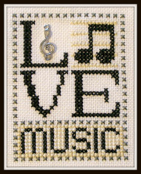 Love Music (w/charm) by Hinzeit 17-1326