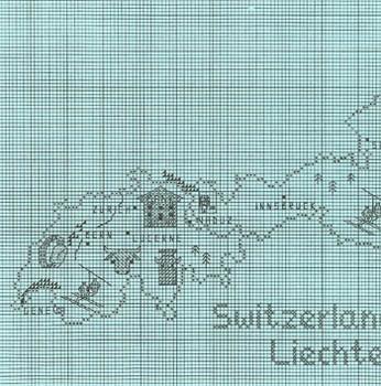 Switzerland/Austria Map by Sue Hillis Designs 7486