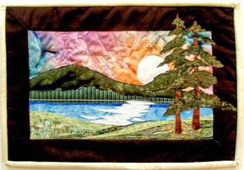 11-2658 Moonlit Lake 10 1/2 x 15 More The Merrier Designs