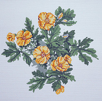 BR357 Barbara Russell Wildflower Wood Poppy