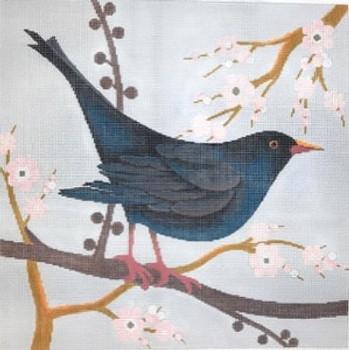 C-550b One Black Bird 12 x12  18 Mesh The Meredith Collection
