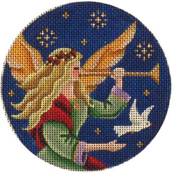 1007b 4 rnd Angel's dove 18 Mesh Rebecca Wood Designs