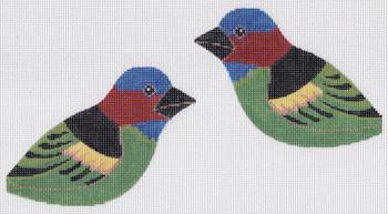LL307H Glisten Finch 4.5 x 3.5 each (2) 18 Mesh Labors Of Love