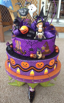 HW183 Halloween Cake Bands 32 x 3, 25 x 3 Nenah Stone Designs 18 Mesh With Stitch Guide
