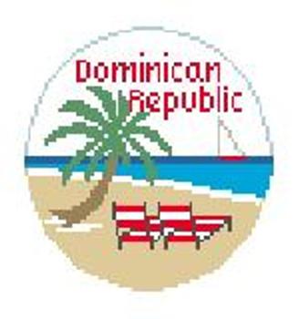 "BT684 Dominican Republic 4"" Diameter Kathy Schenkel Designs"