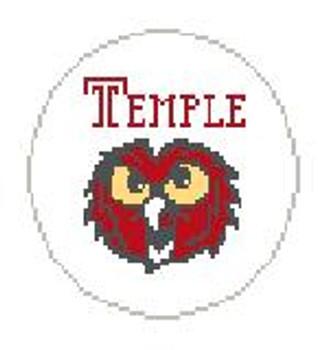 "BT358 Temple Owl  4"" diameter Kathy Schenkel Designs"