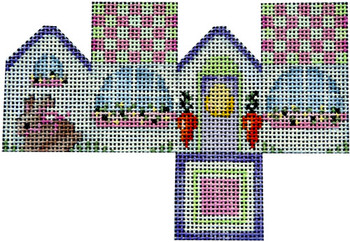 HH-456A Bunny/Checked Rood Mini Cottage 6x4 14 Mesh Associated Talents
