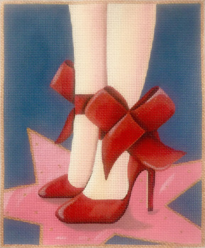 AP2930 Alice Peterson Designs Red Shoes  9 x 10.5 on 13m
