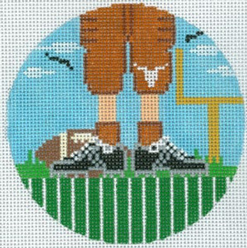 """XO-174t Football Feet Texas Longhorns 5"""" Round 13 Mesh The Meredith Collection"""