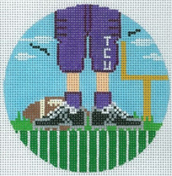 """XO-174t Football Feet TCU 5"""" Round 13 Mesh The Meredith Collection"""