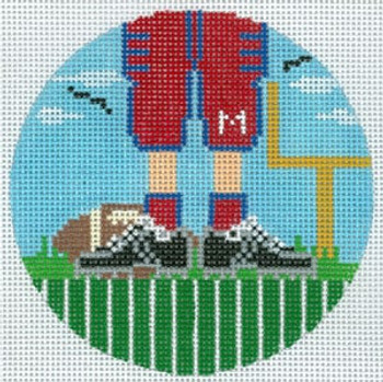 """XO-174t Football Feet Ole Miss 5"""" Round 13 Mesh The Meredith Collection"""