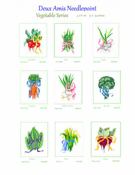 MIN 6025 French Carrots Veggie Series 5 x 8 on 9 x 12 Canvas Deux Amis 13 Mesh