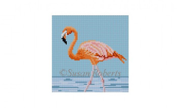 4841bb28ff3 0514B~ Flamingo 4x4 18 Mesh Susan Roberts Needlepoint