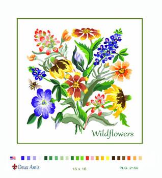 PLG2150 Texas Wildflowers Deux Amis 18 Mesh 16 x 16