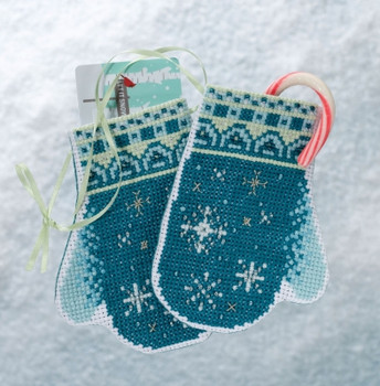 MH191832 Mill Hill Trilogy Ornament Kit Snowflake Mittens 90a94159d405c