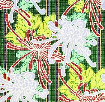 P1120 Lee's Needle Arts Nouveau Chrysanthemum  13 Mesh 14X14