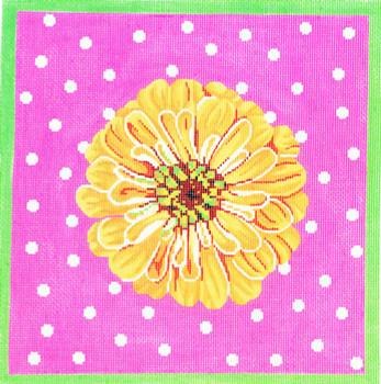 P1175 Lee's Needle Arts Zinnia/Yellow 13 Mesh 12X12