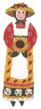 LR301A M-Lady/Sunflower 3.5X11.5 18 Mesh Cooper Oaks Designs