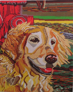PBZ-001 The Point Of It ALL Retriever with Hydrant 11 x 10 ish 18 Mesh