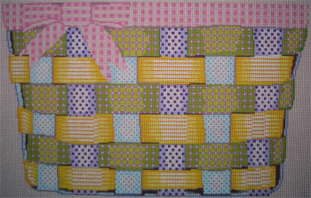 F-082 The Point Of It All Ribbon Basket 12 x 11  18 Mesh