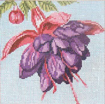 "#234 Fuschia 18 Mesh - 5"" Square  Needle Crossings"